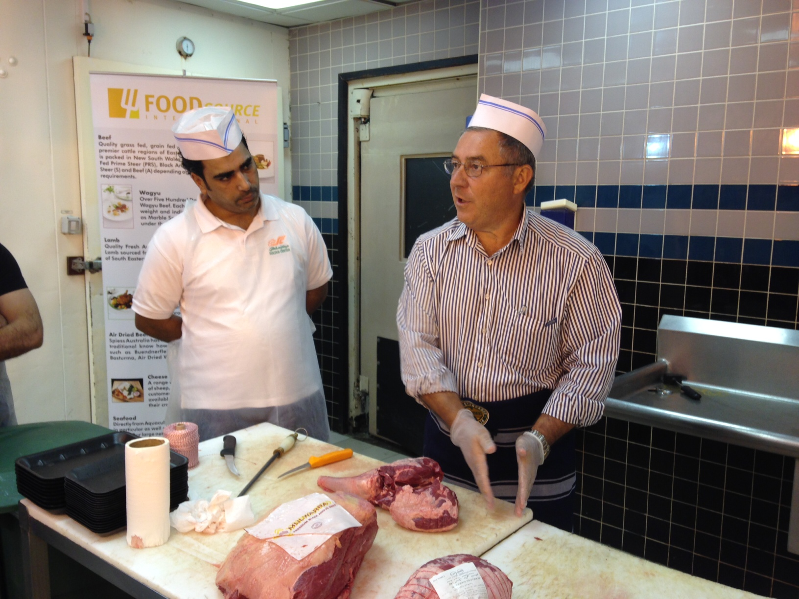Butchery For Kitchen : MLA BUTCHER TRAINING IN MUSCAT - Food Source International